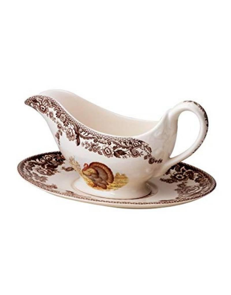 Spode  Sauce Boat & Stand (Turkey)