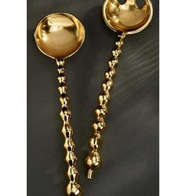 Gold Gilded Beaded Server Set
