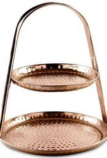 2 Tier Copper Hammered Stand