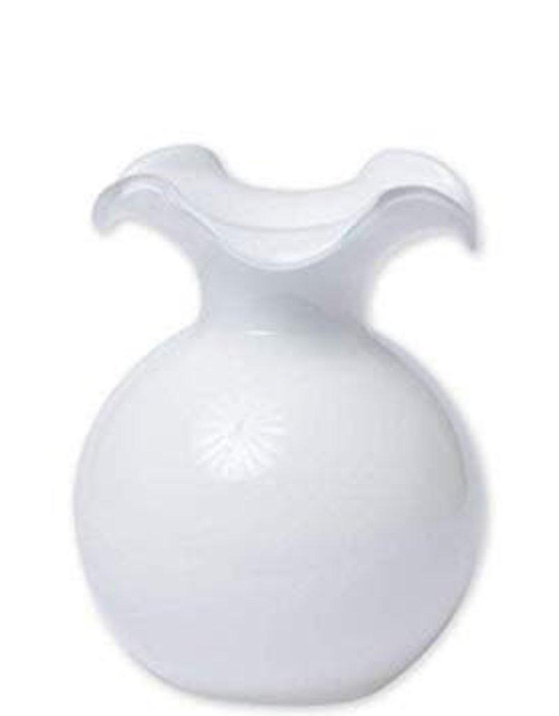 Vietri - Hibiscus Glass White Medium Fluted Vase