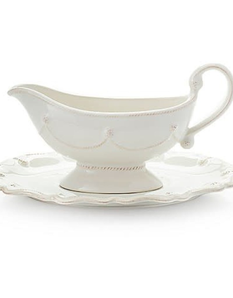 Juliska Berry & Thread Gravy/Sauce Boat with Stand