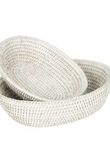 White Rattan Nested Bread Baskets