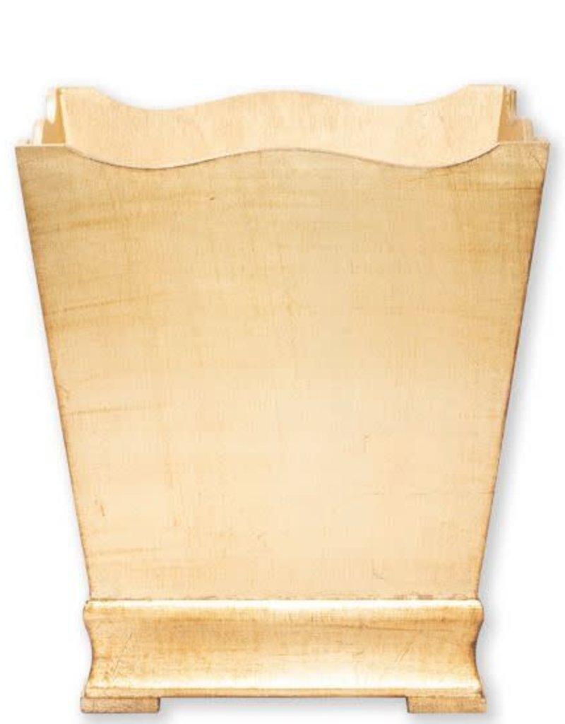 Vietri Florentine Gold Waste Basket