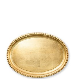 Vietri Florentine Gold Small Oval Tray