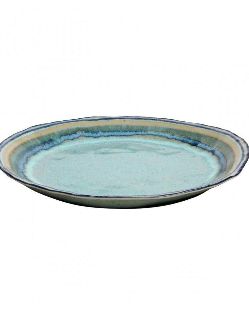Green Round Serving Platter