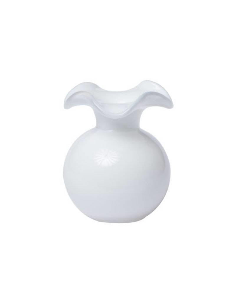 Vietri  Hibiscus Glass White Small Vase