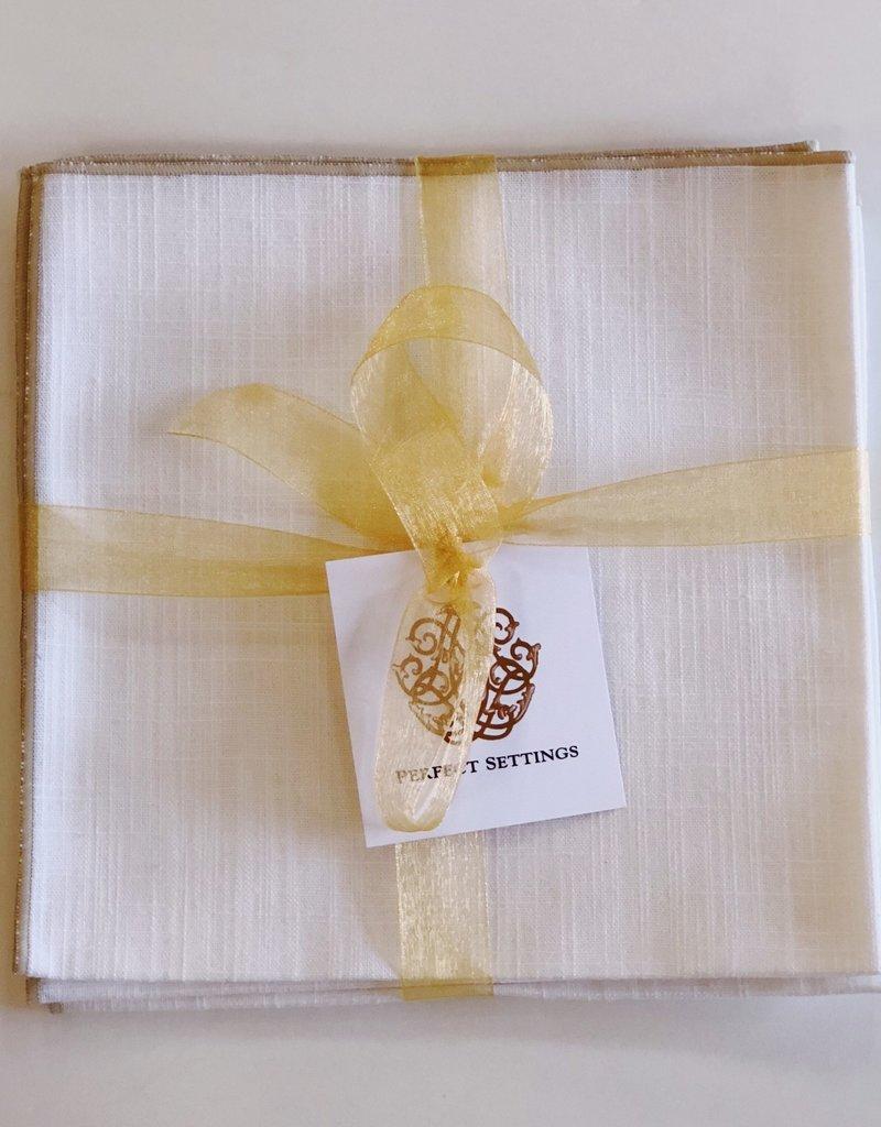Napkin White Merrow Set of 4