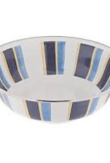 Golden Rabbit- Serving Bowl (Blue Stripes)