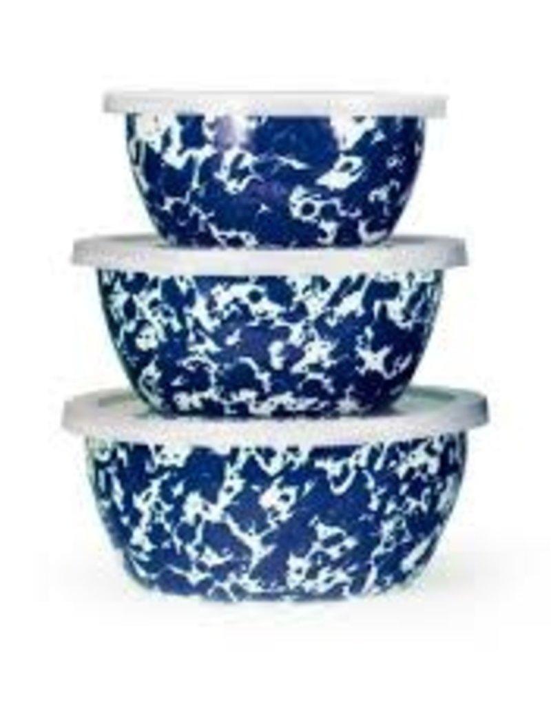 Golden Rabbit- Nesting Bowls (Cobalt Swirl)