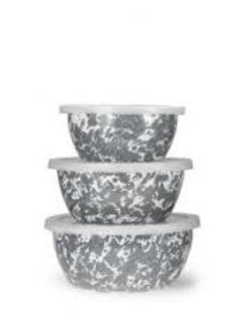Golden Rabbit- Nesting Bowls (Grey Swirl)