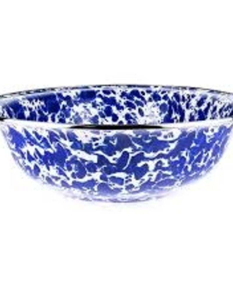 Golden Rabbit- Serving Basin (Cobalt Swirl)