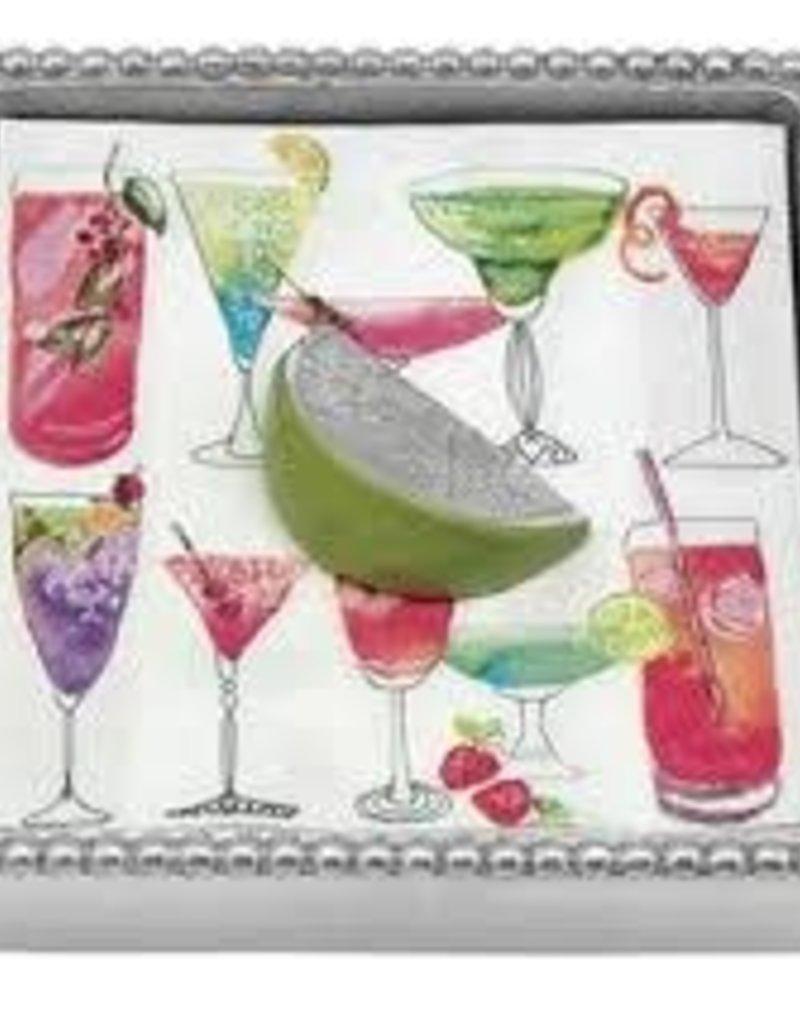 Mariposa- Beaded Cocktail Napkin Box
