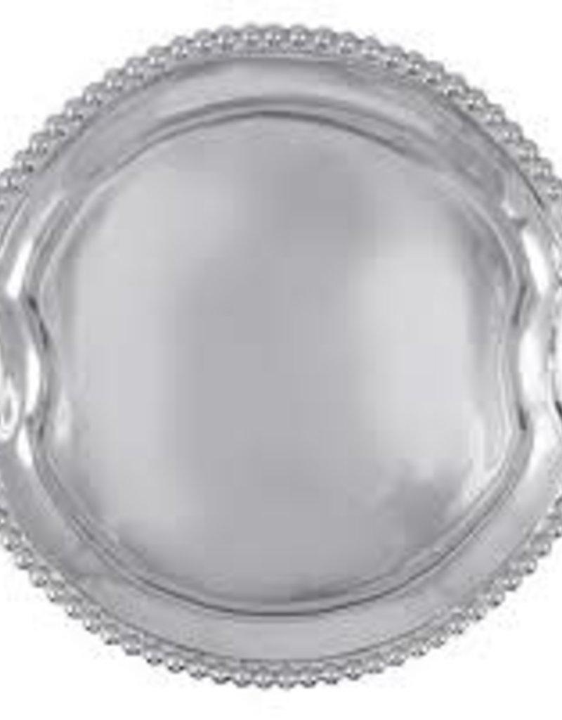 Mariposa - Pearled Round Handled Tray