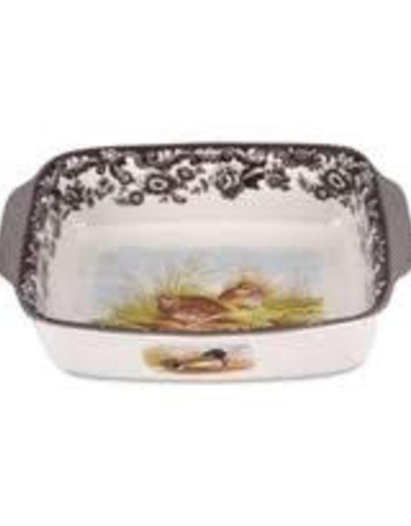 Spode- Woodland Rect Handled Dish (QL/MAL)