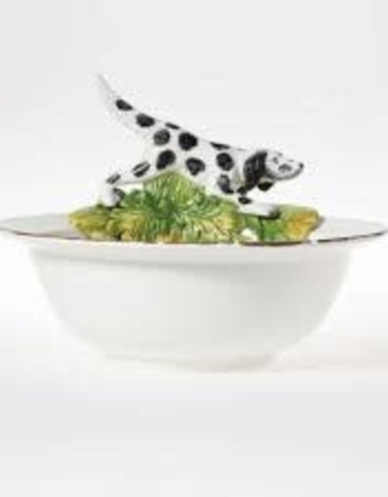 Vietri- Wildlife Serving Bowl W/ Hunting Dog