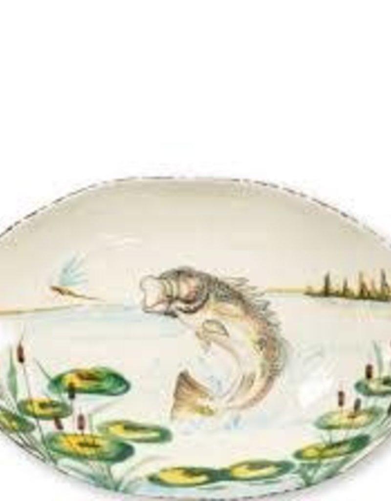 Vietri- Wildlife Bass Oval Bowl