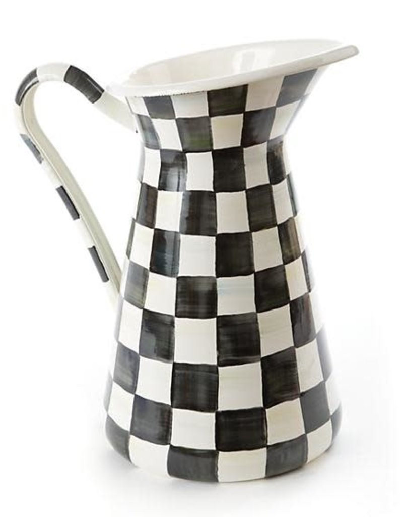 Mackenzie Childs - Courtly Check Enamel Practical Lg Pitcher