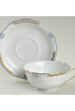 Herend Princess Victoria Light Blue Teacup & Saucer