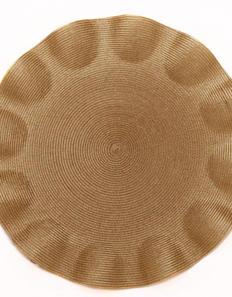 Deborah Rhodes Ruffle Edge Linen (Gold)