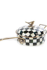 Mackenzie Childs Courtly Check Enamel 3 Qt. Saute Pan