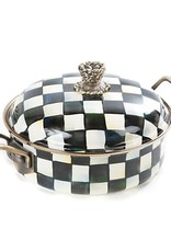 Mackenzie Childs Courtly Check Enamel 3 Qt. Casserole