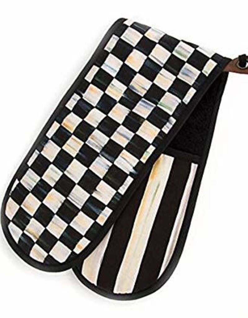 Mackenzie Childs Courtly Check Bistro Double Oven Mitt