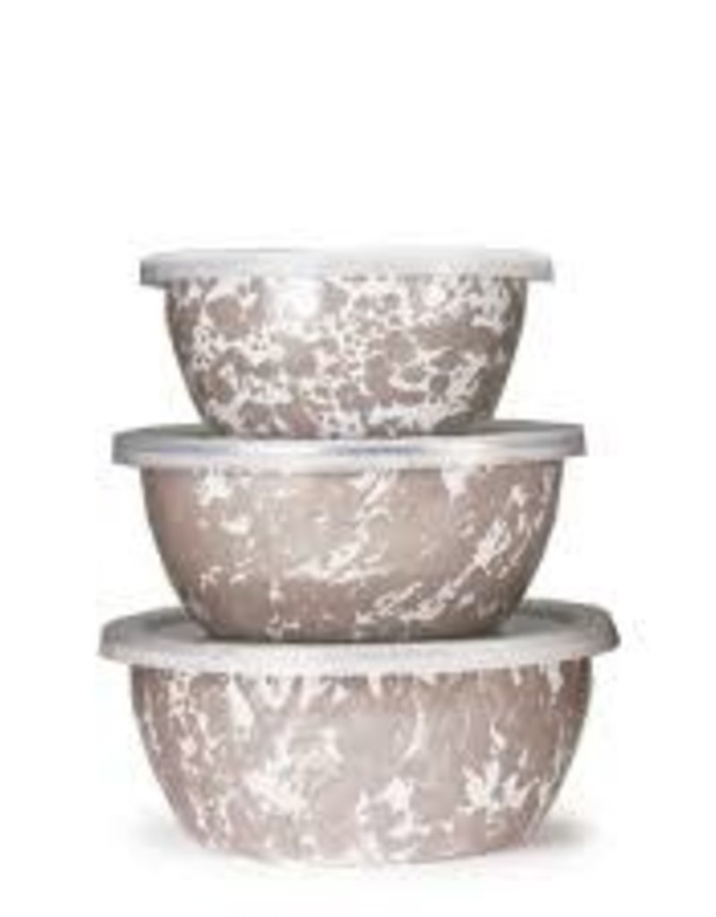 Golden Rabbit- Nesting Bowls (Taupe Swirl)