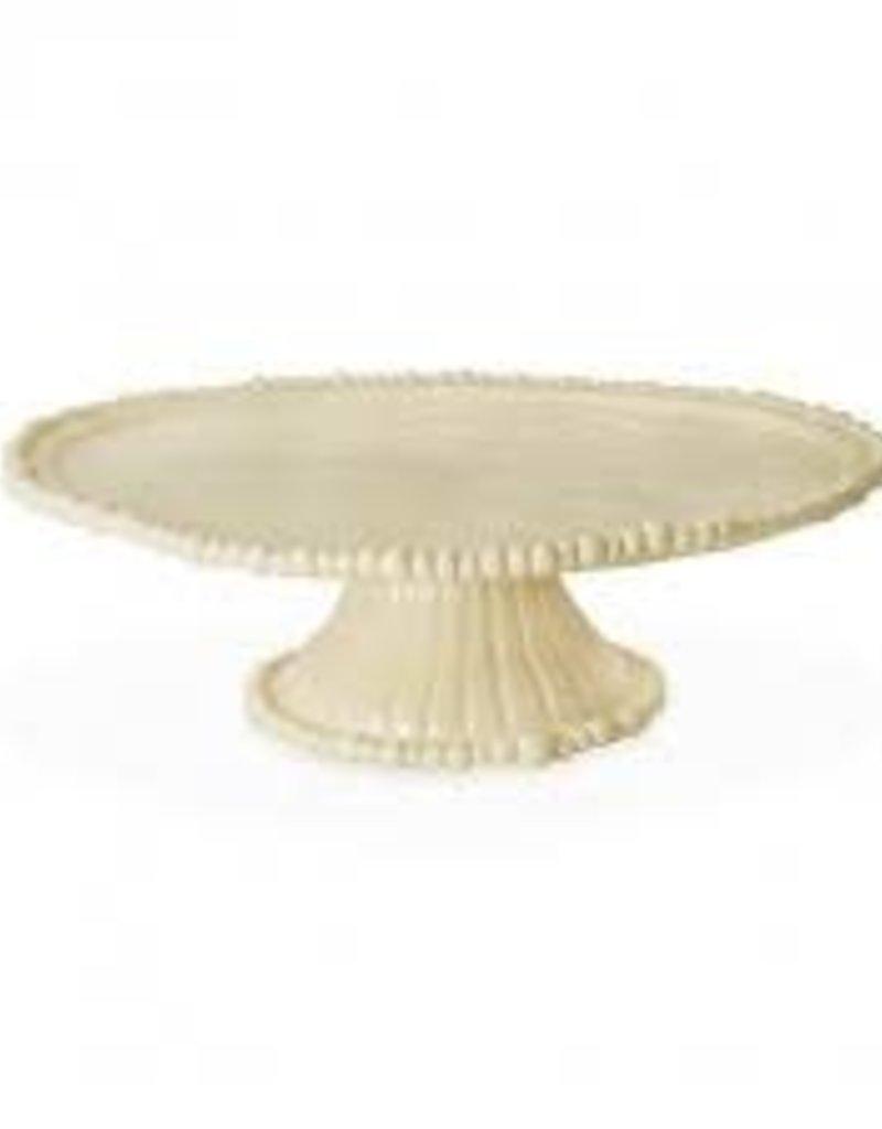 Melamine- Vida Alegria Pedastal Cake Plate (Butter)