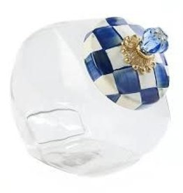 Mackenzie Childs -  Royal Check Cookie Jar with Enamel Lid