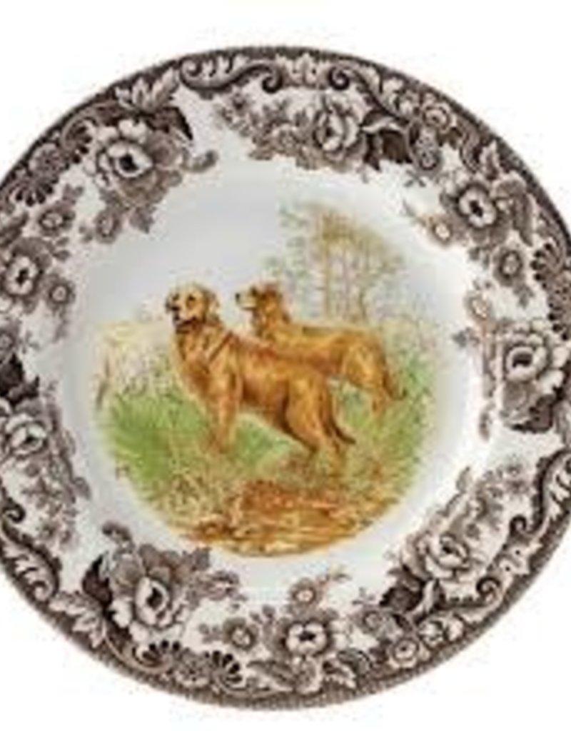 "Spode-  Woodland Dinner 10.5"" (Golden Retriever)"