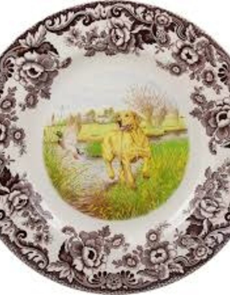 "Spode- Woodland Dinner 10.5"" (Yellow Lab)"