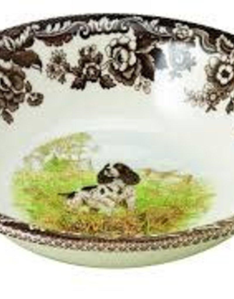 "Spode - Woodland Ascot Cereal 8"" (Spaniel)"