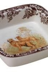 Spode-  Square Rim DIsh (Golden Retriever)