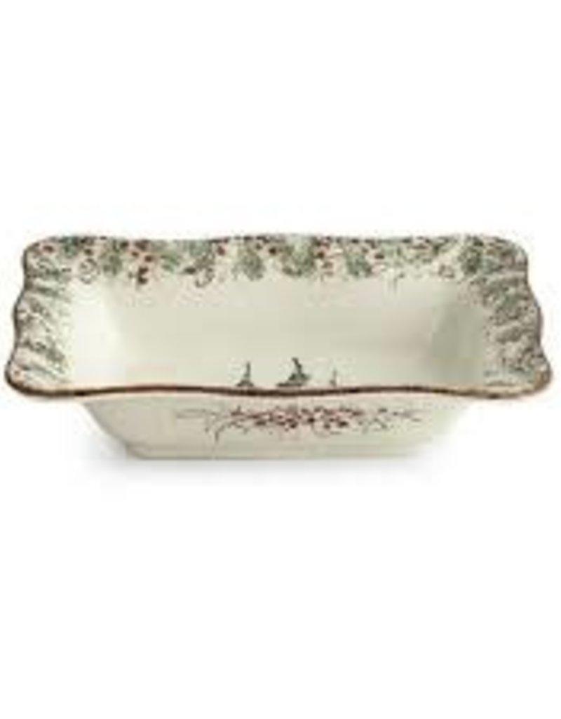 Arte Italica-  Natale Rectangular Bowl