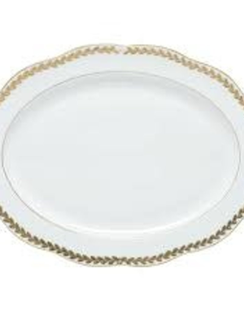 Herend - Golden Laurel Oval Platter