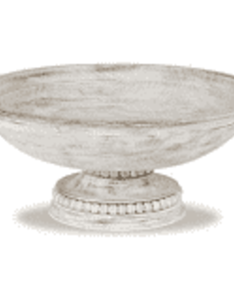 Beaded Pedestal Serving Bowl