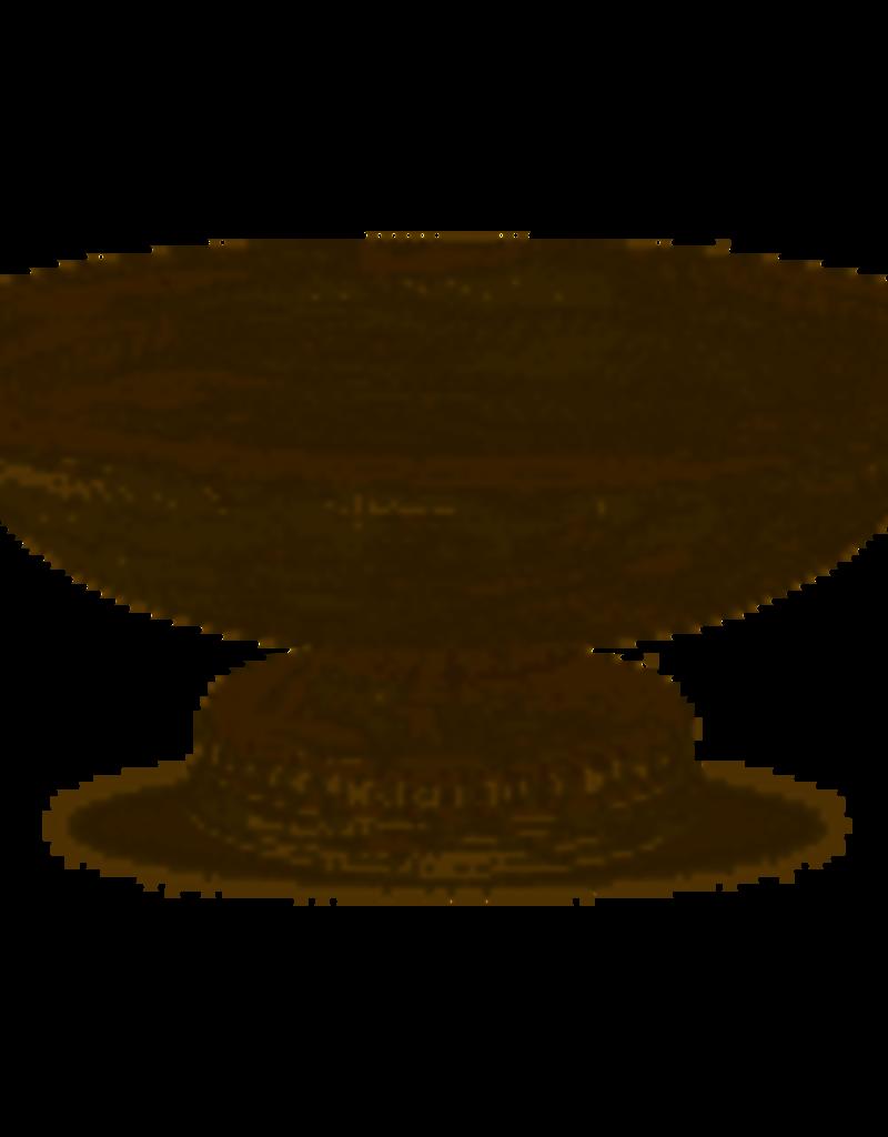 Mudpie -Beaded Pedestal Serving Bowl