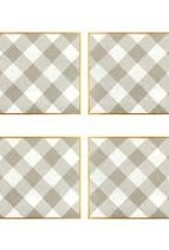 Jaye's Studio - Buffalo Plaid Placemat White & Taupe