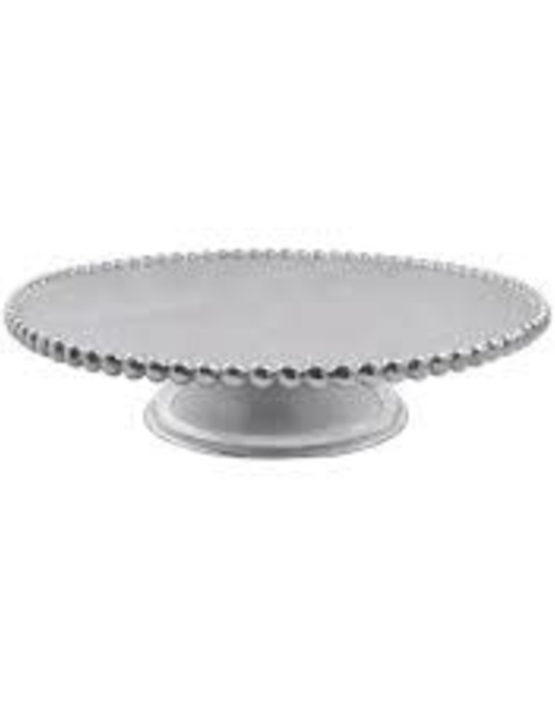 Mariposa- Pearled Footed Cake Stand