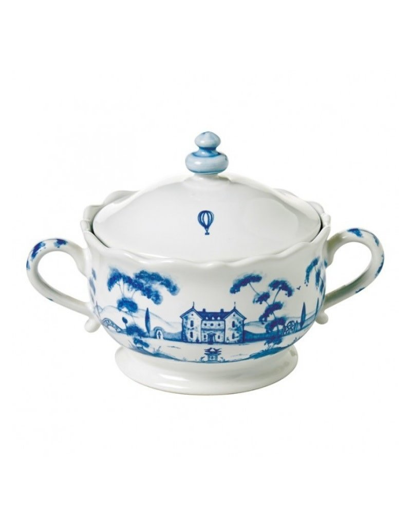 Juliska Country Estate Delft Blue Covered Sugar