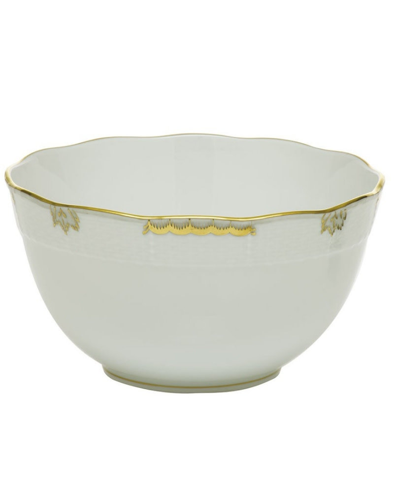 Herend Princess Victoria Gray Round Bowl