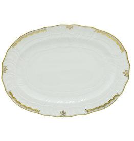 "Herend Princess Victoria Gray Platter 15""x11.5"""