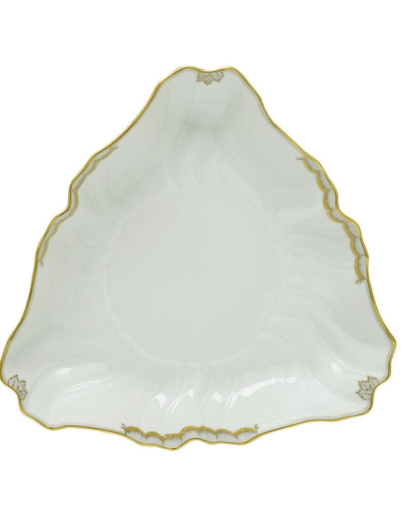 Herend Princess Victoria Gray Triangle Dish