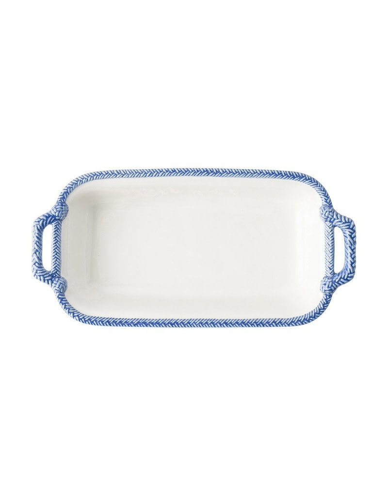 """Juliska Shallow Baker Le Panier White/Delft Blue 13"""""""
