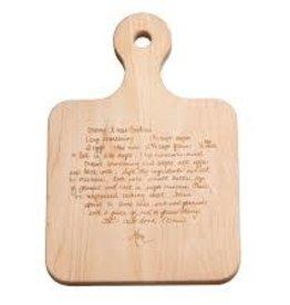 MLH-  Recipe Handled Maple Artisan Board