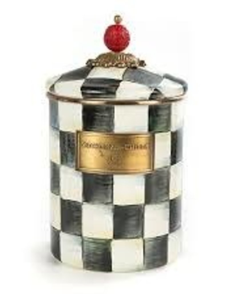 Mackenzie Childs - Courtly Check Enamel Canister Medium