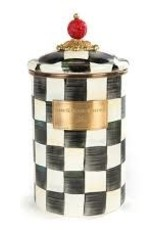 Mackenzie Childs - Courtly Check Enamel Canister Large
