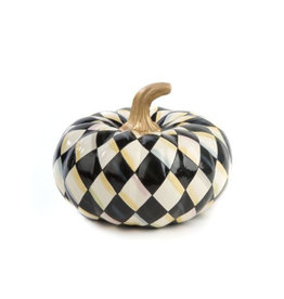 Mackenzie Childs Courtly Harlequin Squashed Pumpkin Small