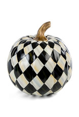 Mackenzie Childs Courtly Harlequin Pumpkin Medium