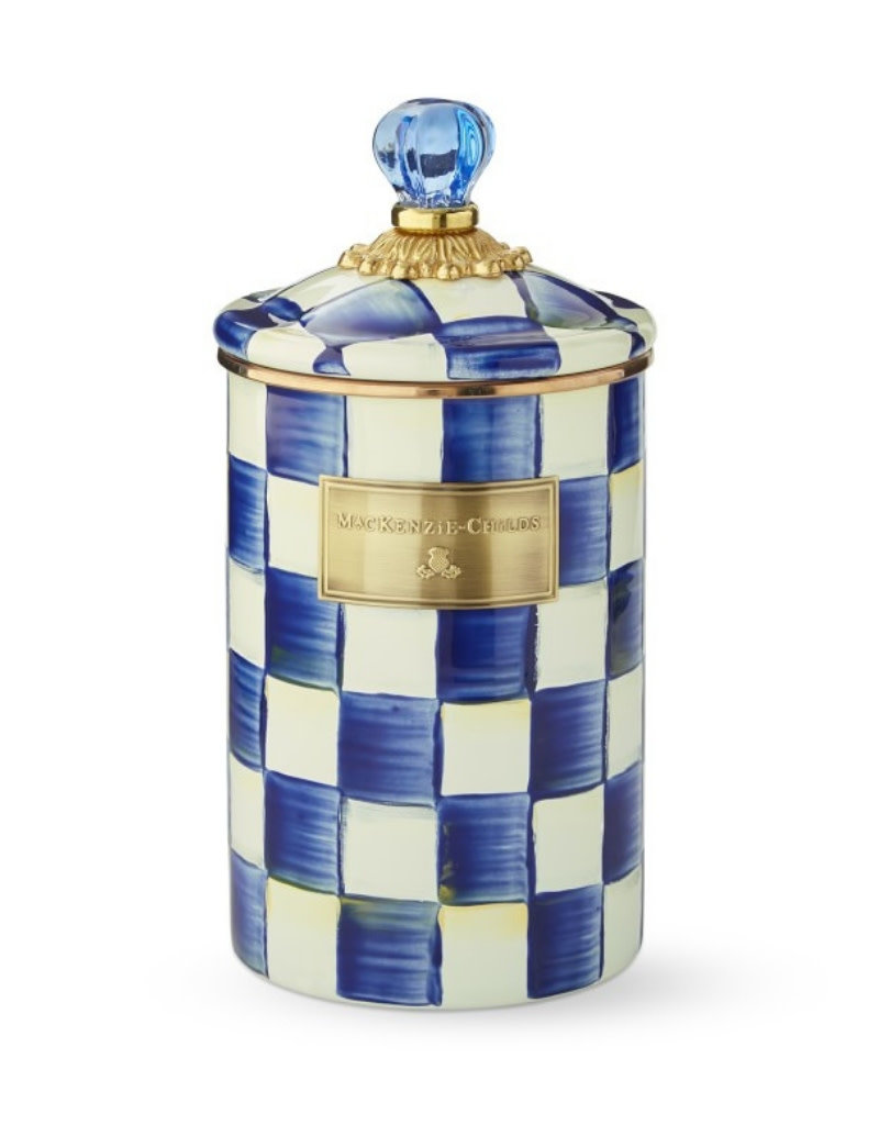 Mackenzie Childs Royal Check Canister Large